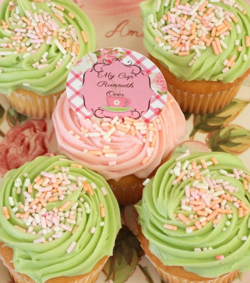 My Cup Runneth Over - A Tea Party On A Budget - cupcakes