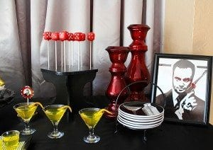 He's Aged to Perfection | James Bond Birthday Party Desserts and props