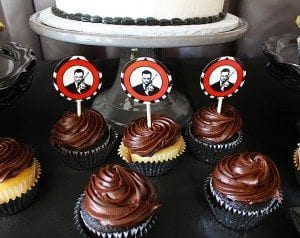 He's Aged to Perfection | James Bond Birthday Party Cupcakes