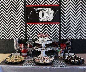 Dessert Table - He's Aged to Perfection | James Bond Birthday Party