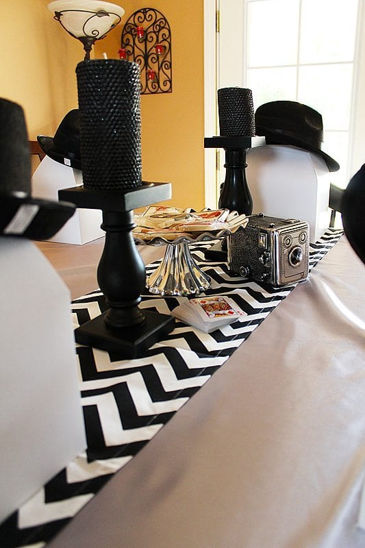 He's Aged to Perfection | James Bond Birthday Party Table Setting