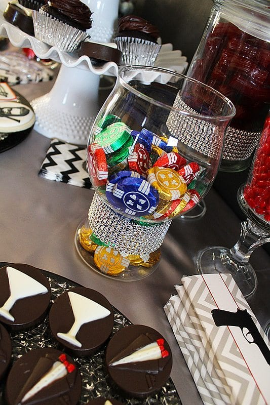 He's Aged to Perfection | James Bond Birthday Candy Table