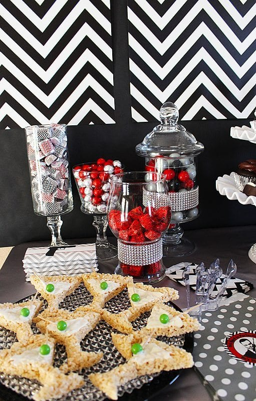 He's Aged to Perfection | James Bond Birthday Party - Candy and Desserts
