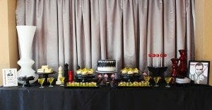 He's Aged to Perfection | James Bond Birthday Party Table