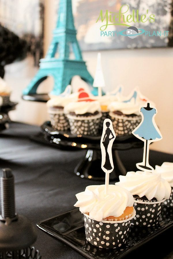 """A Day in Paris"" fashionista cupcakes"