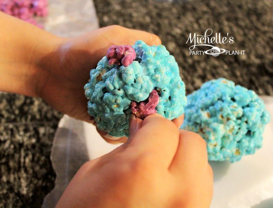 Sulley Inspired Popcorn Balls