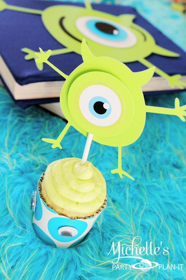Monsters University Cupcake Toppers