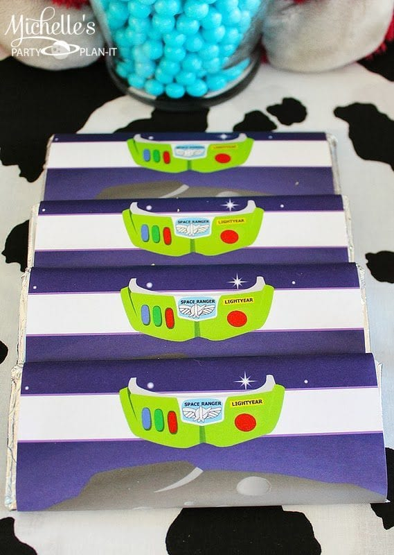 Buzz Lightyear Candy Bar Wrappers