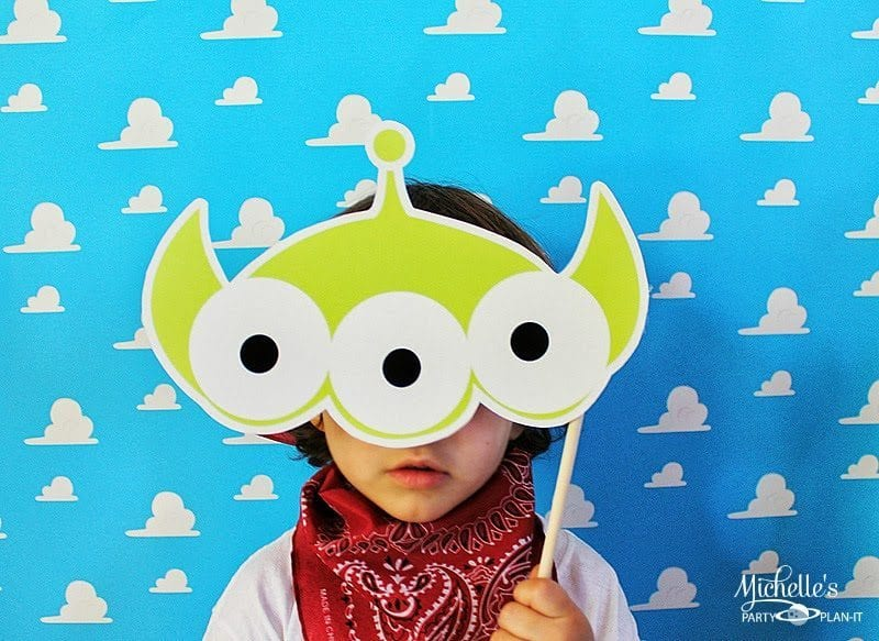 Toy story photo booth props