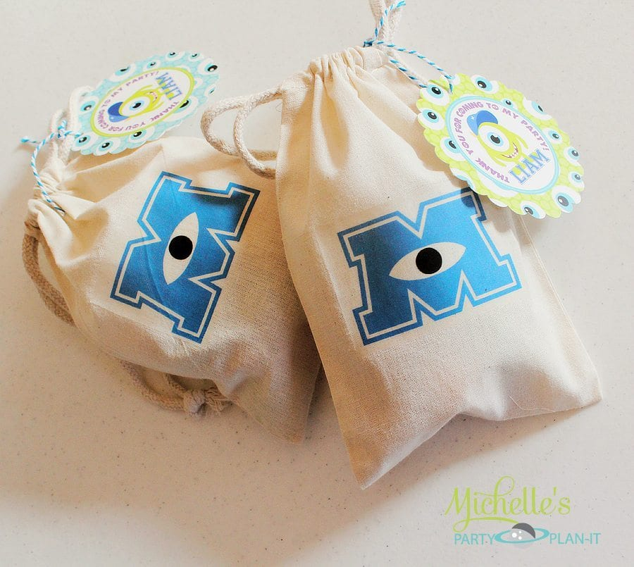 Monsters University Party Favor Bags