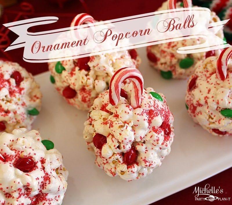 Fun Ornament Popcorn Balls Michelle S Party Plan It