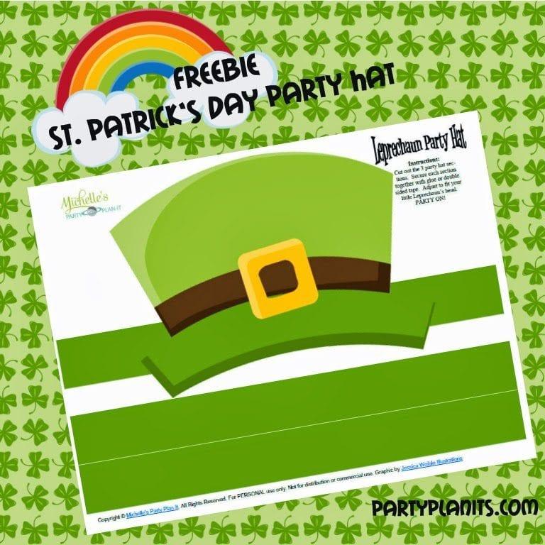 Freebie – DIY St. Patrick's Day Party Hats
