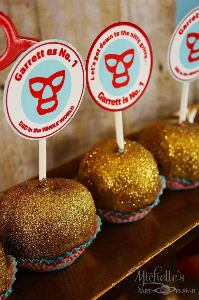 Nacho Libre Party - candy apples