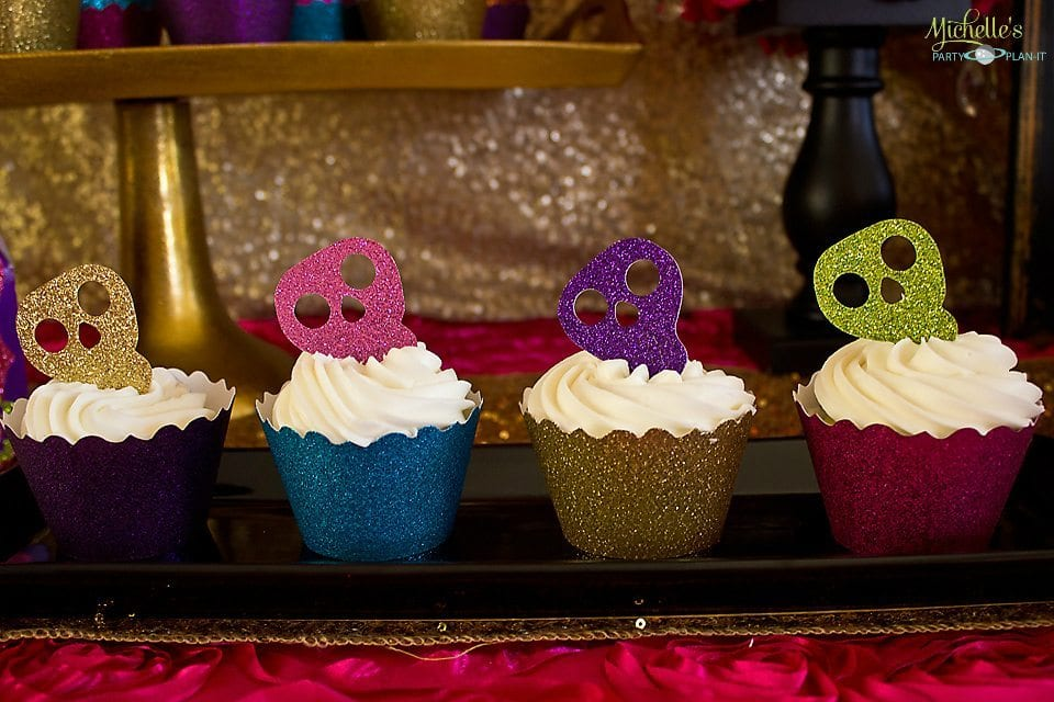 Day of the Dead Party - Skull Toppers