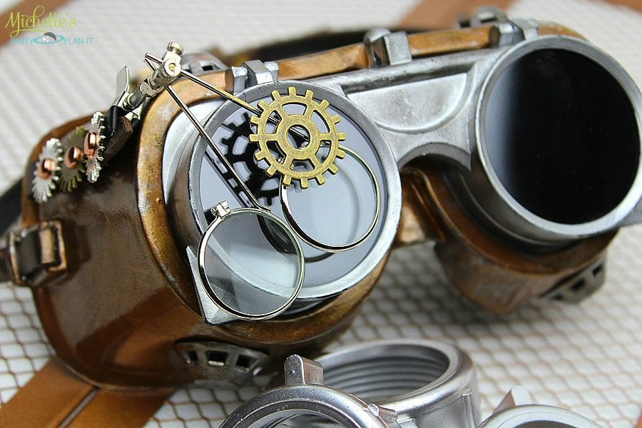 diy steampunk goggles michelle 39 s party plan it. Black Bedroom Furniture Sets. Home Design Ideas