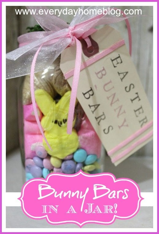 bunny bars in a jar
