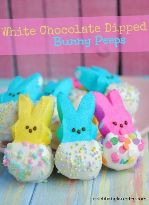 chocolate dipped bunny peeps