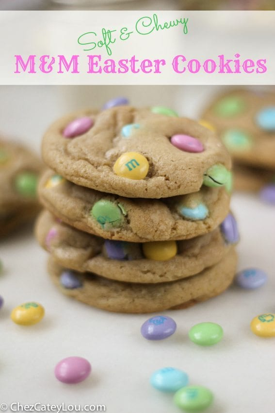 easter M and M cookies