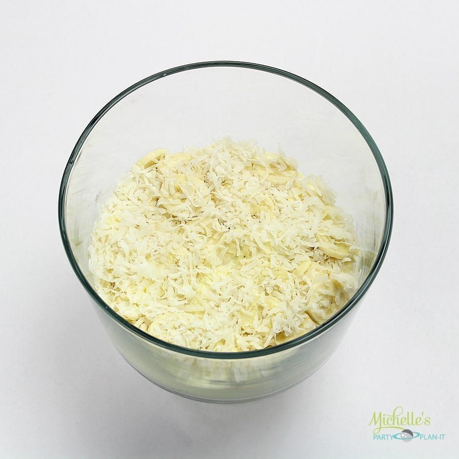 Coconut Banana Cream Eclair