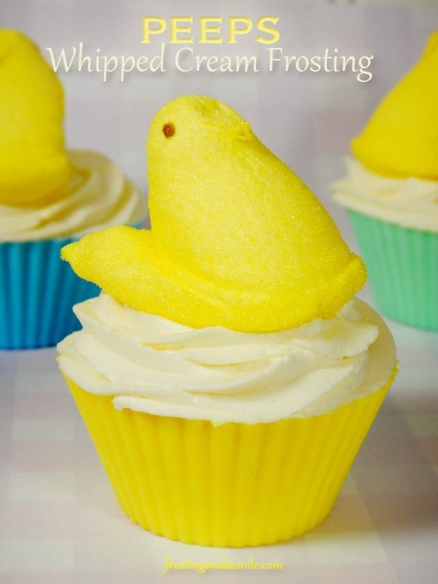 peeps whipped cream frosting