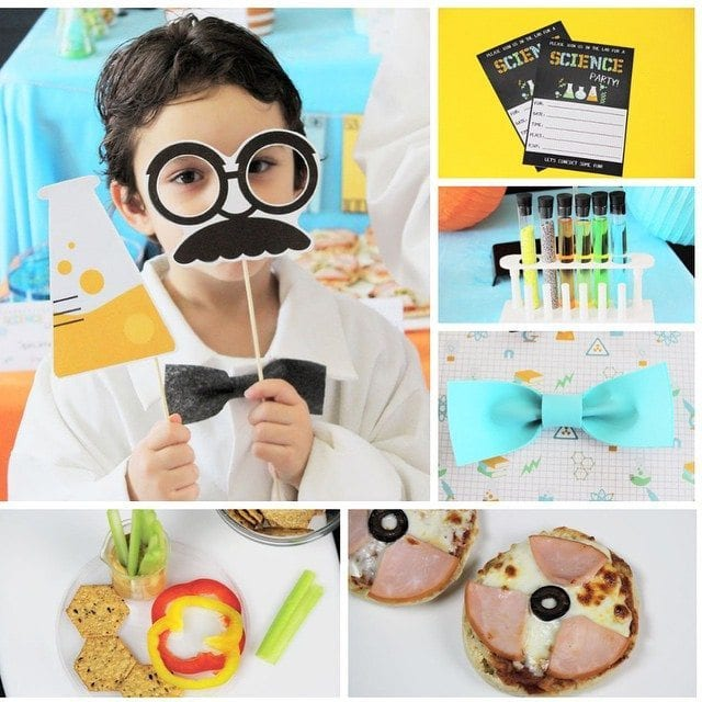 Planning a Science Birthday Party? Head on over to the PBS Parents site! I'm sharing lots of laboratory fun including recipes, crafts, science experiments, printables and more!