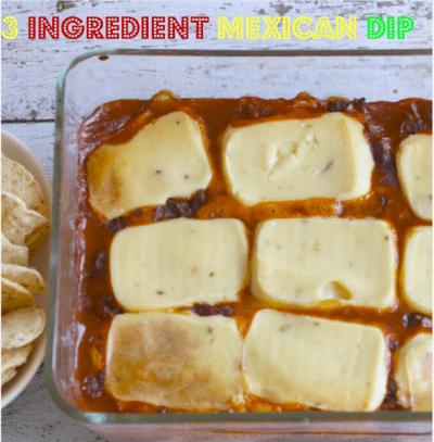 3 Ingredient Mexican Dip
