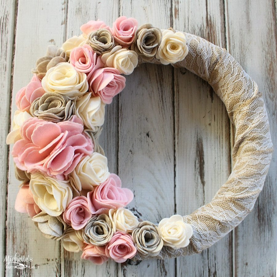 How to Make a Felt Flower Wreath