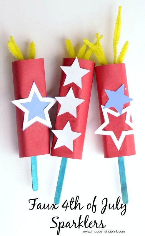 Faux 4th of July Sparklers