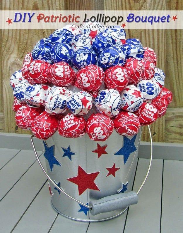 Patriotic Lollipop Bouquet