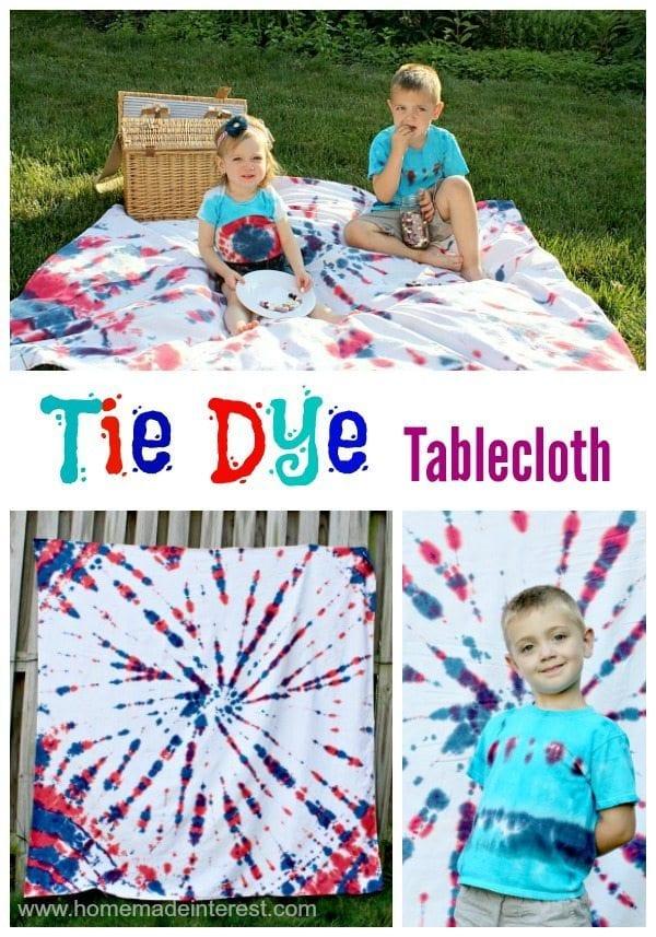Tie Dye Tablecloth