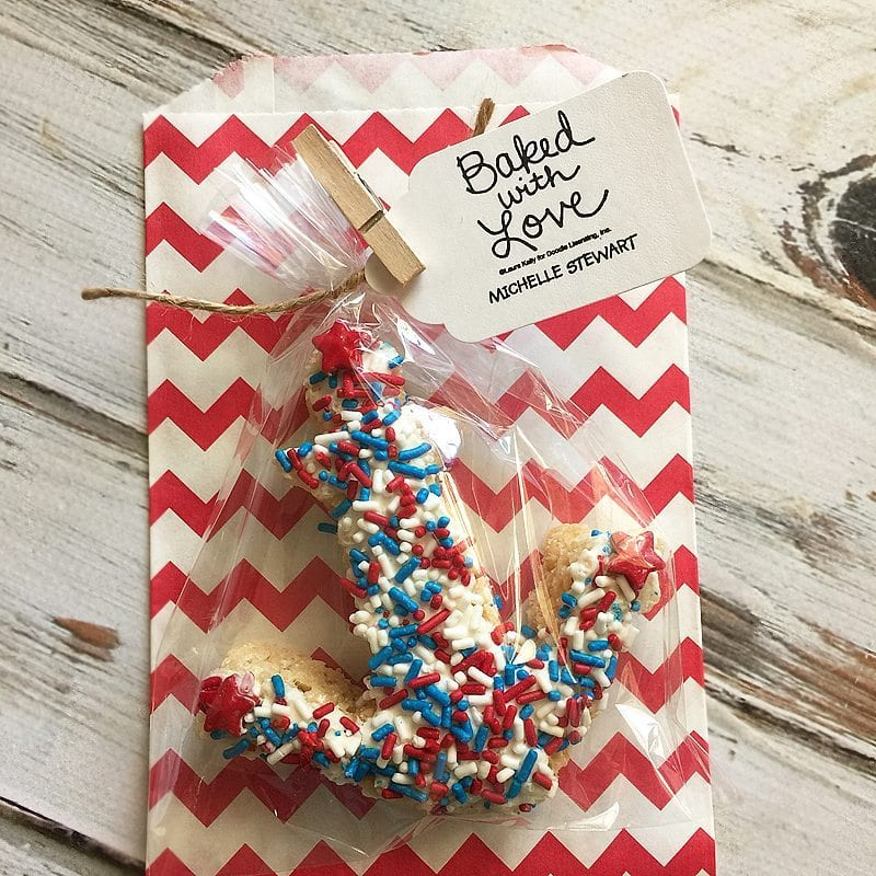 Fourth of July Cereal Treats