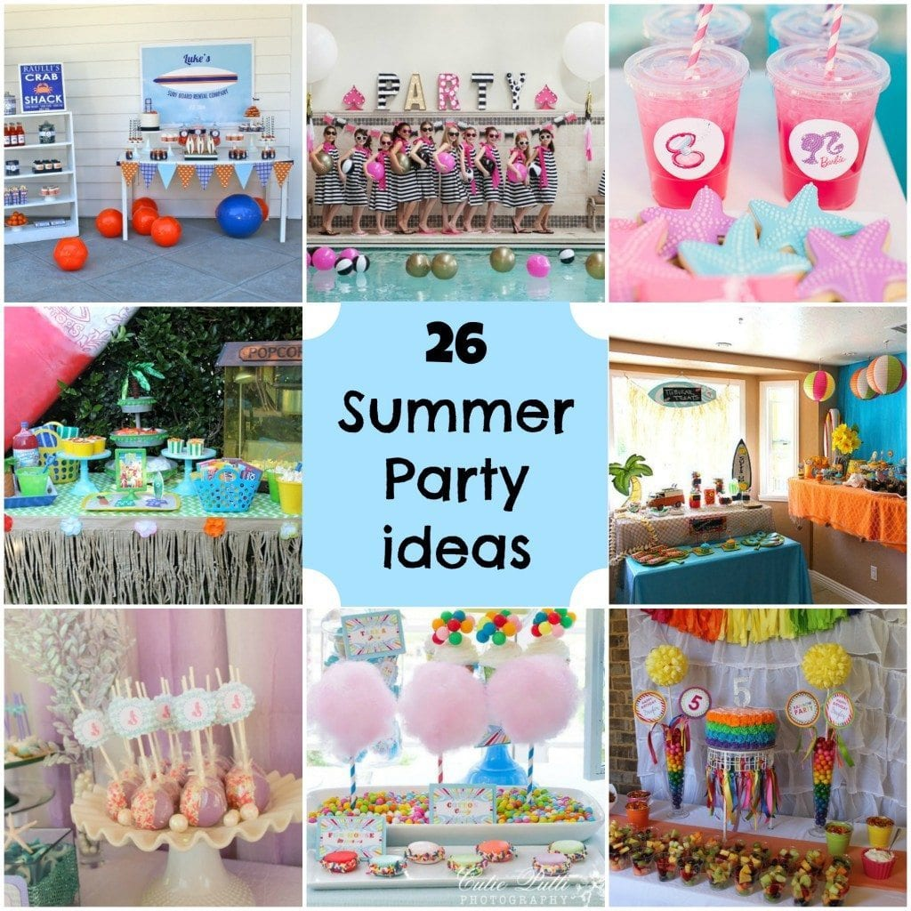 Summer Party Ideas Collage