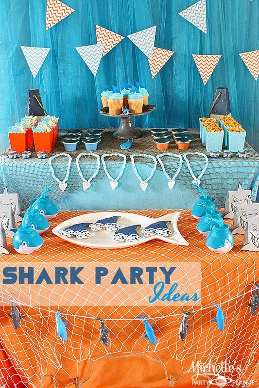 Shark Party Ideas Summer Celebrations Michelle S Party