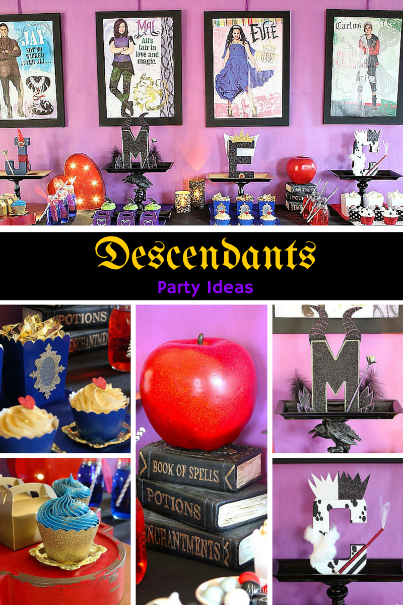 Birthday Decoration Descendants How To Plan A Disney S