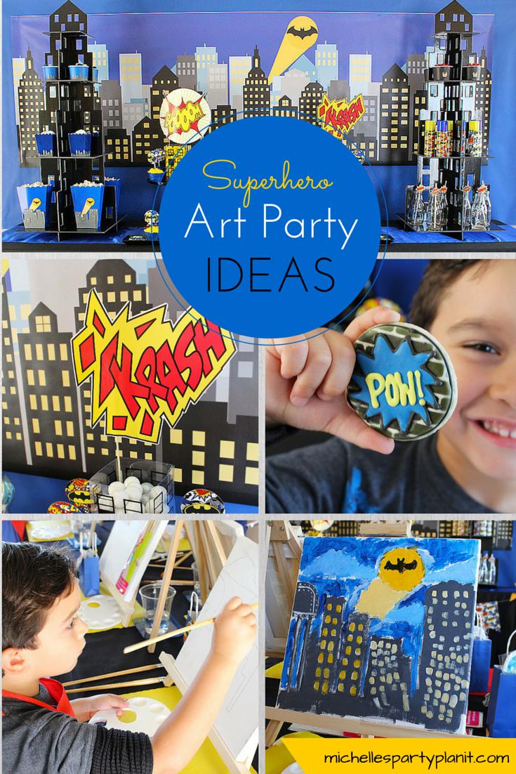 Superhero Art Party