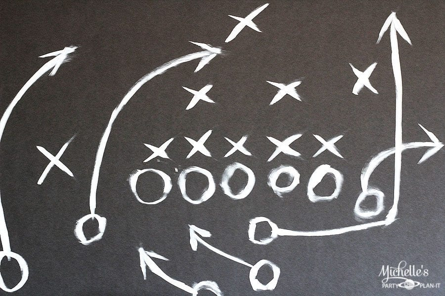 football blackboard