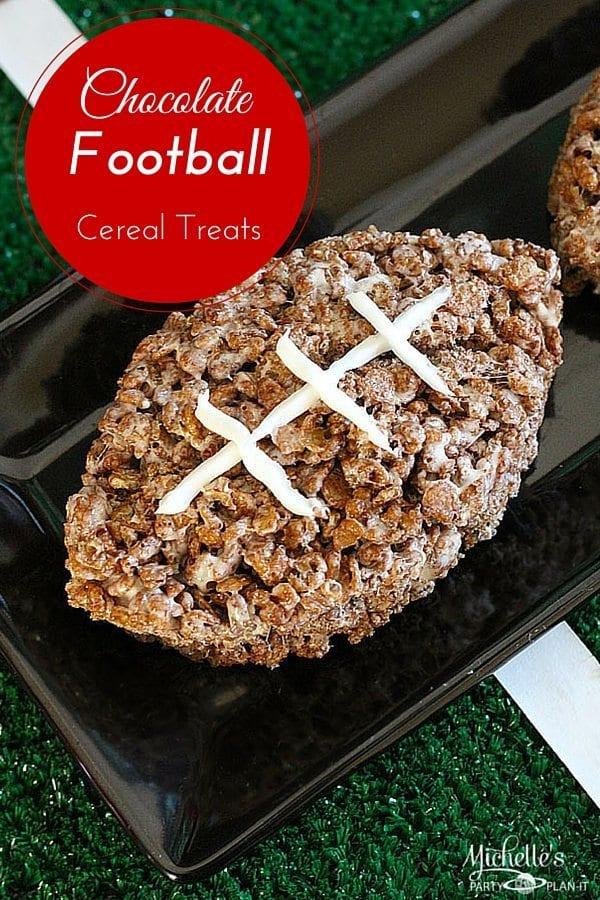 Chocolate Football Cereal Treats Recipe