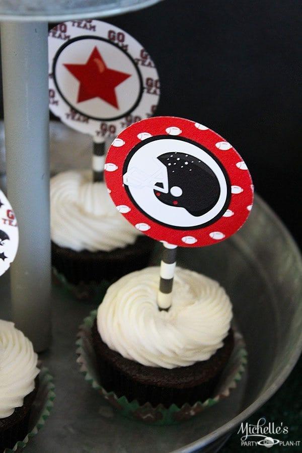 Free Printable Football Cupcake Toppers