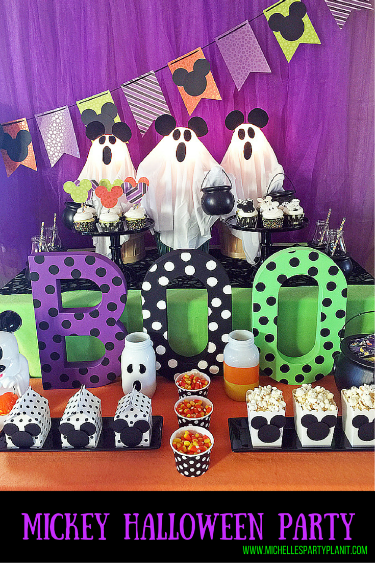Decoration Halloween Disney : Trick or treat a mickey halloween party michelle s