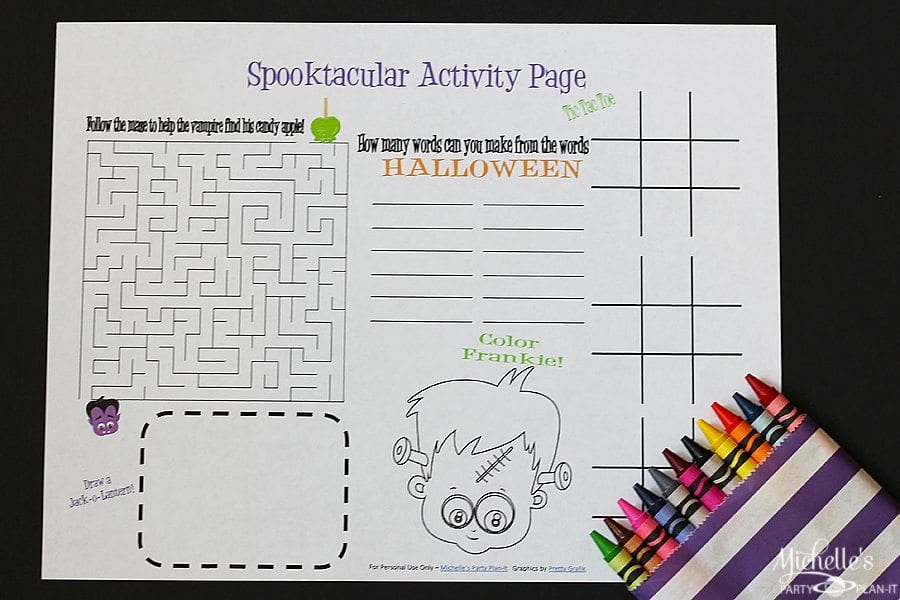 Spooktacular Activity Page