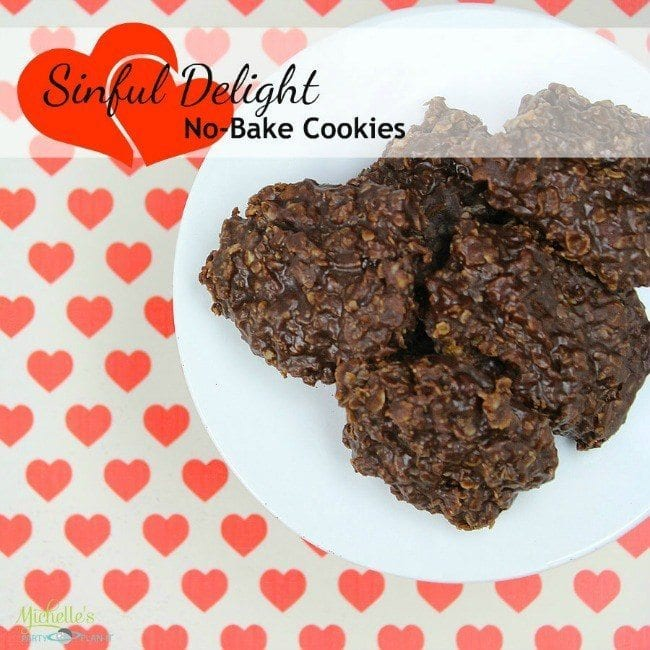 No Bake Chocolate & Peanut Butter Cookies