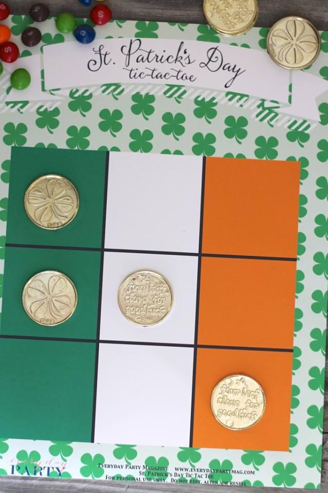 St. Patricks Day Tic Tac Toe
