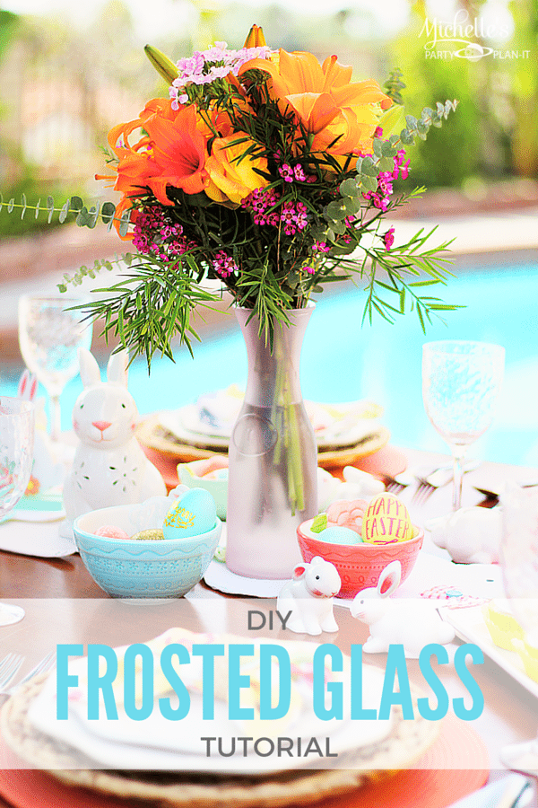 EASY DIY Frosted Glass Vase  | Spring Decor Tutorial