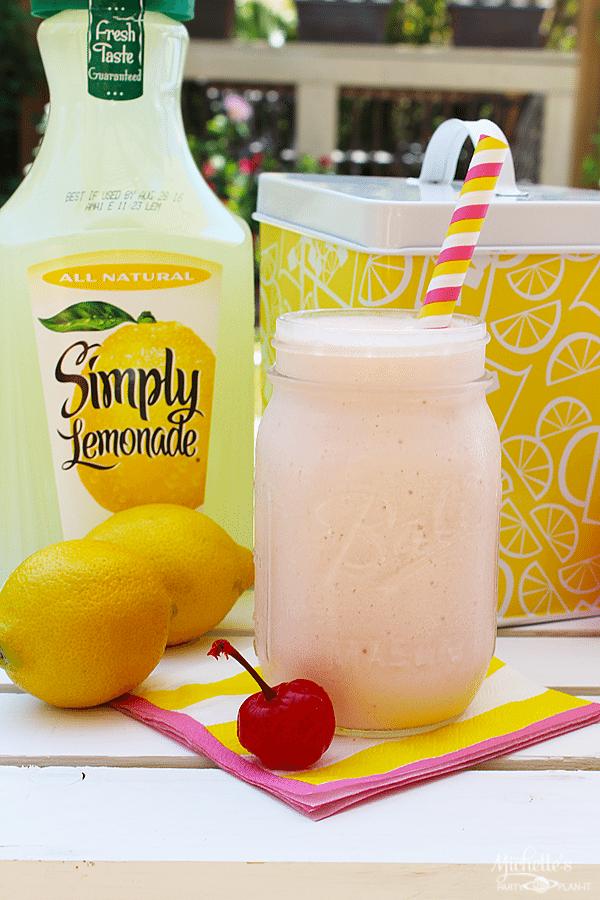 Delicious Frozen Cherry Lemonade