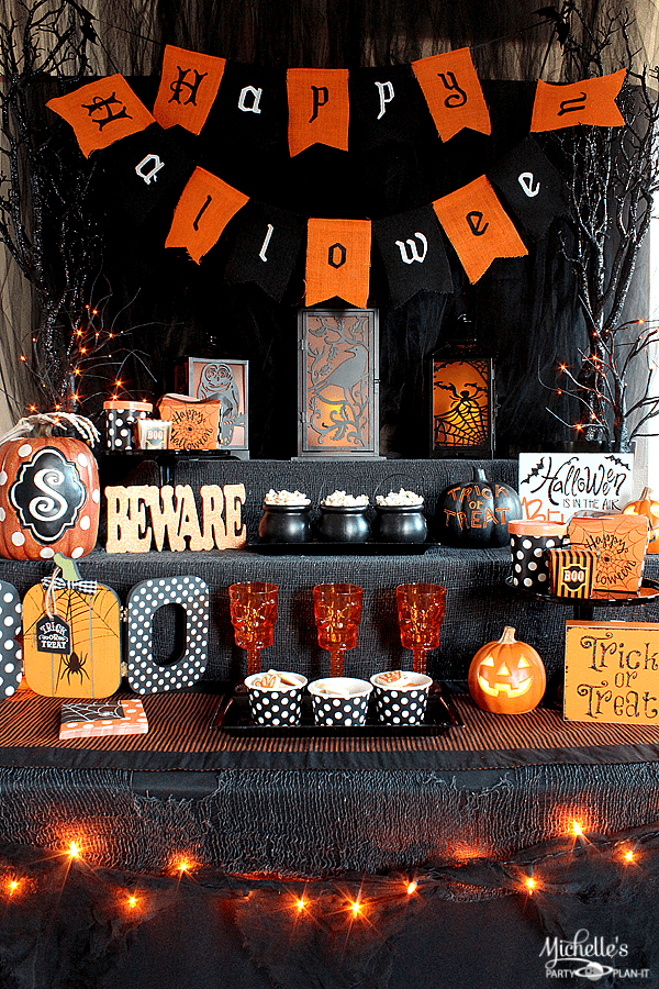 All Hallows Eve Halloween Party and Snack Station