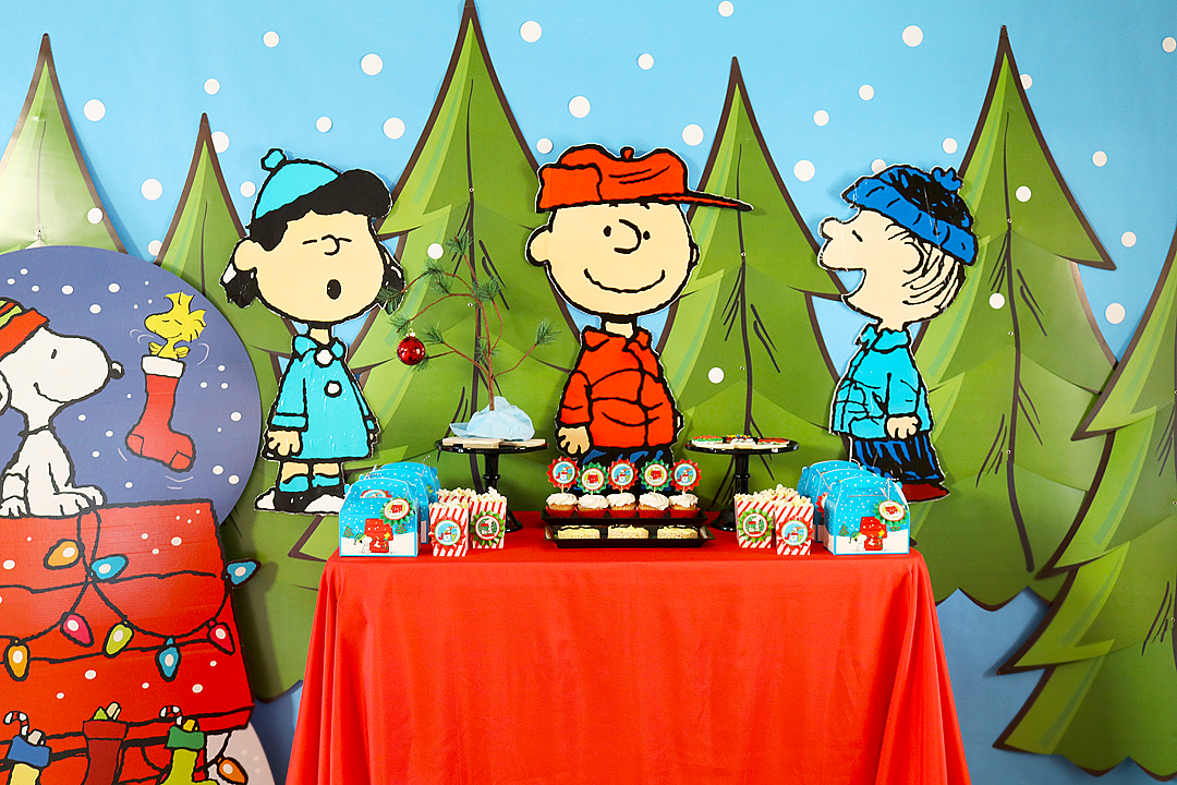 Charlie Brown Christmas Party Backdrop