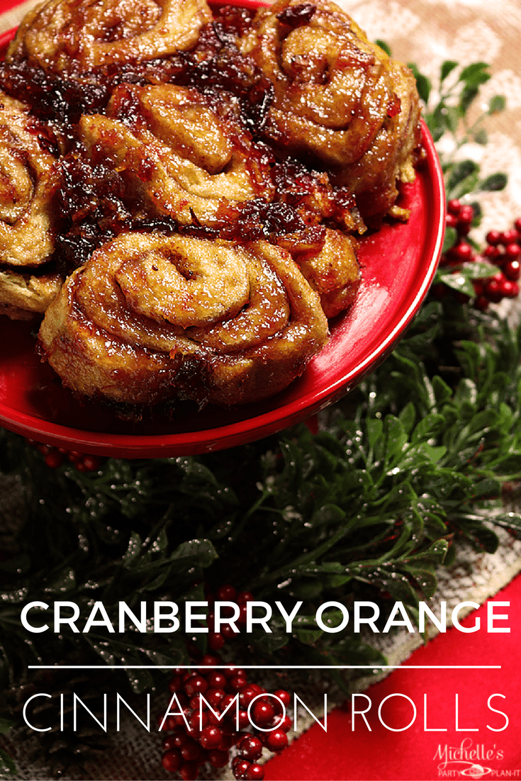 Cranberry Orange Sticky Cinnamon Rolls Recipe #ItsBakingSeason