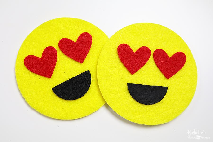 DIY Emoji Felt Coasters