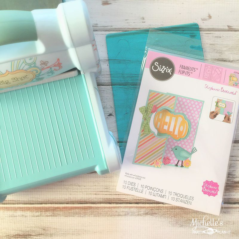 Hello Card Sizzix Dies and Supplies