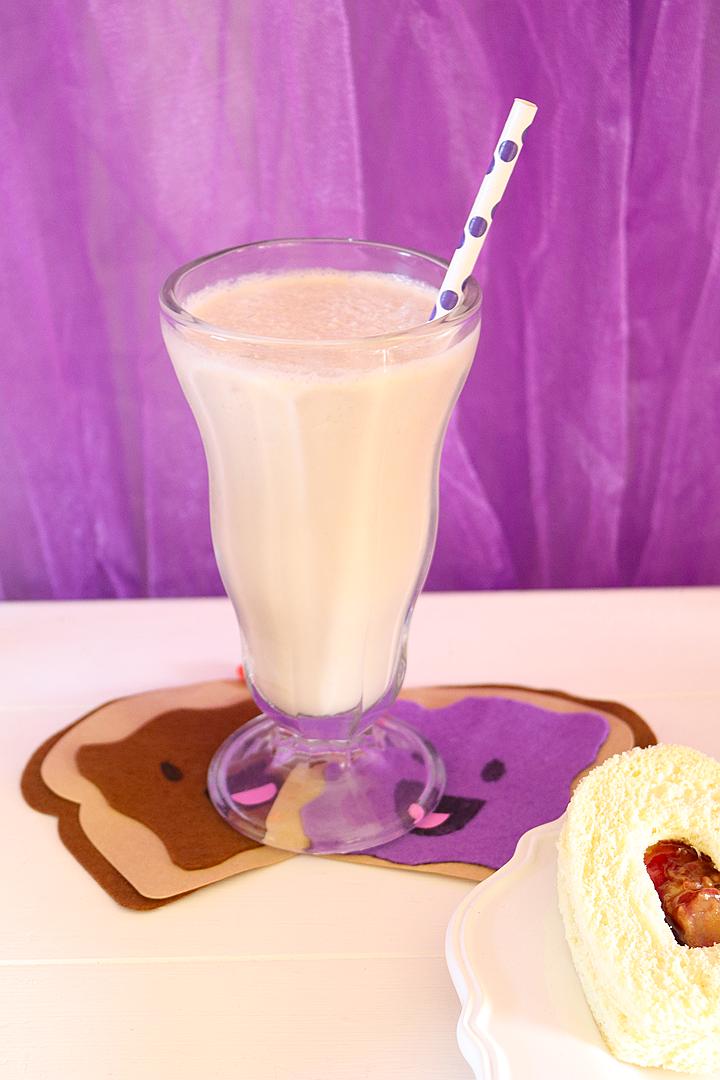 We Go Together Like PB & J Valentine's Day Party - PB & J Milkshake Recipe